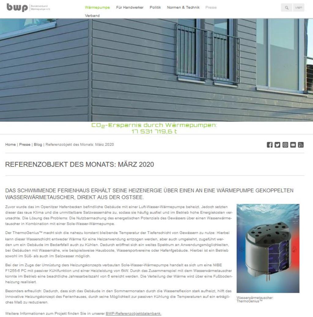 Pressebericht bwp Referenzprojekt des Monats